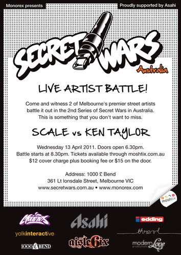 Secret Wars Australia Melbourne Grand Final image
