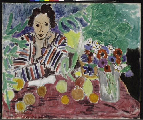 Matisse - Striped Robe Fruit and Anemones - smaller image