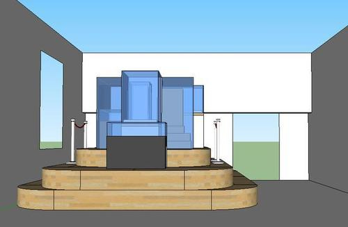 Rendering of Monument to Museum Preservation and Collection, an installation designed for the entrance to the Luce Center for American Art, 5th Floor, in November 2011. image