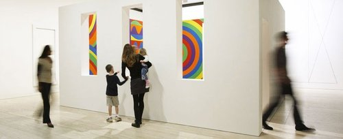 The new John Kaldor Family Gallery with Sol LeWitt's Wall drawing #1091: arcs, circles and bands (room) image