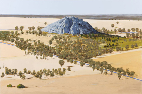 Mitre Rock & Lake image