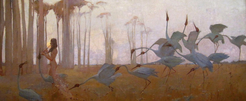 Sydney Long Spirit of the plains 1897 (detail)  image