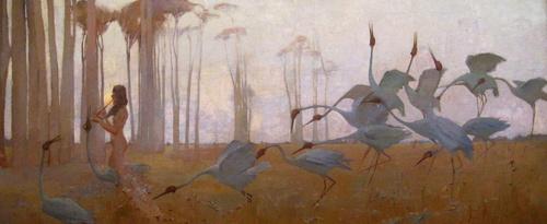 Sydney Long Spirit of the plains 1897 (detail)  image