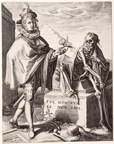 Death surprising a young man 1592 image