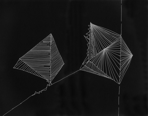 Point of Departure, 2012, Propositional drawing, ink on paper, 300 mm x 200 mm. image