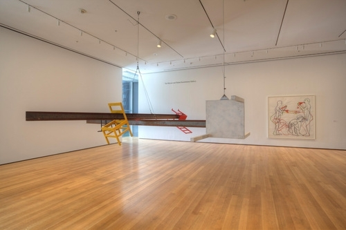 Installation view of Bruce Nauman: White Anger, Red Danger, Yellow Peril, Black Death, The Museum of Modern Art image
