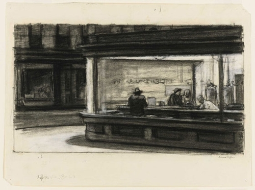 Study for Nighthawks image