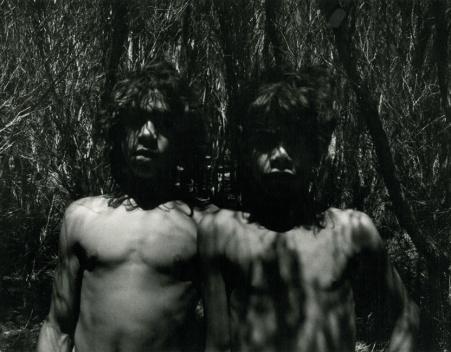 Koorie mates in the tea trees (detail) image