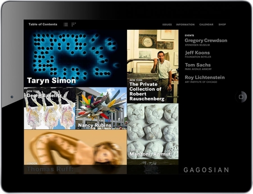 THE GAGOSIAN APP FOR iPad image