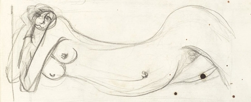 Detail from Brett Whiteley sketchbook image