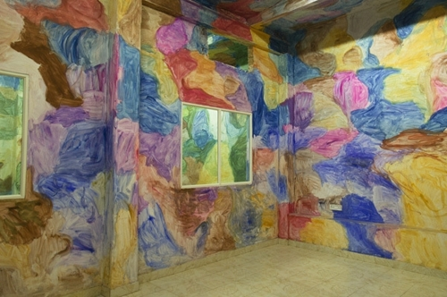 Zhang Enli, Open and Closed Space Painting. Watercolour on wall image