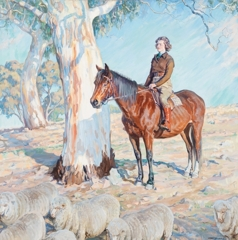 Bringing in the sheep, c. 1936 image