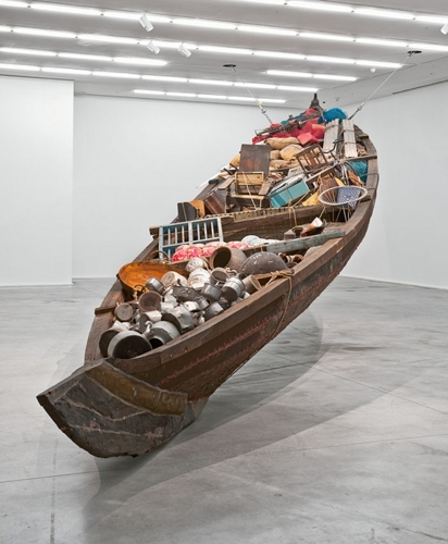 Subodh Gupta What does the vessel contain, that the river does not image
