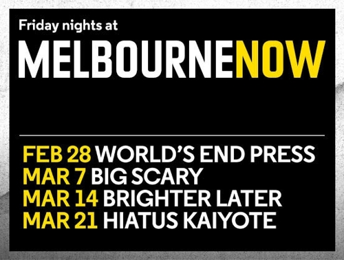 Friday Nights at Melbourne Now image