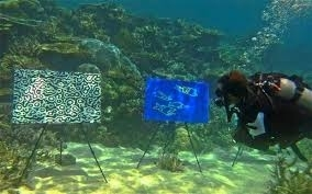 Underwater art gallery on the Great Barrier Reef image