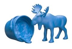 Michael Doolan, Cautionary Tales (turquoise) 2011. Ceramic and auto enamel, 32 x 50 x 30cm.  image
