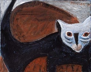 Drowsy cat image