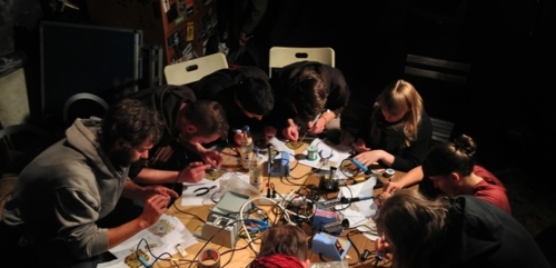 CT-SWaM & Eyebeam Present: Sound Happens in The Group! a workshop with Theremidi Orchestra image