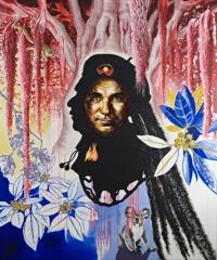 Nana Ohnesorge, bundjalungboy, Portrait of Djon Mundine, after Michael Riley image