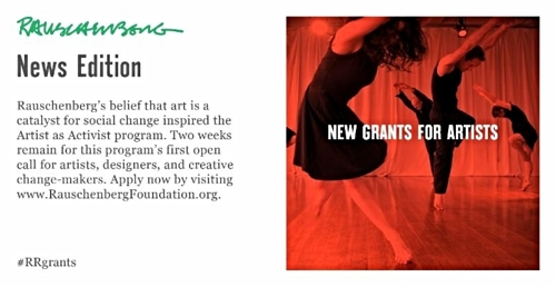 RRF: New Grants for Artists
