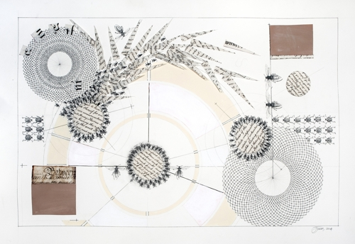 Jean James, We Can Take It, 2014, pen, ink, acrylic and vellum, 56x76cm image