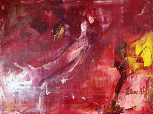 "Elena Gutierrez. Reborn. Acrylic on Canvas. 30""x40"" image"