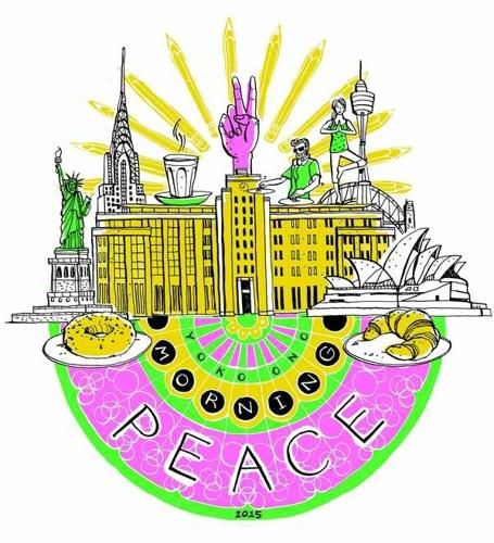 YOKO ONO MORNING PEACE 2015 image