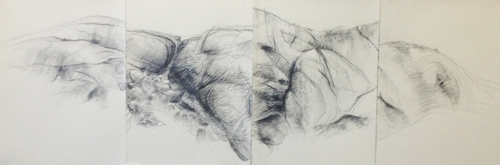 Katharine Campbell, Edifice 1, 2014, pencil on paper, 226 x 75.5cm image