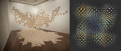 Images: Susan Buret (left), Axis, 2015. Julie Brooke (right), Entangled Labyrinth 1, 2015. image