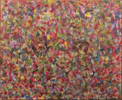 """Carlo Alacchi. Together We Tread. Acrylic and Ink on Canvas Board. 20""""x32.5"""" image"""