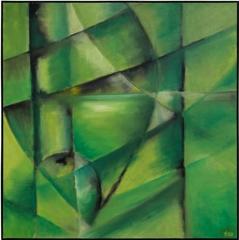 Ilgar Talibov. Green Apple. Oil on Canvas. 37 x 37 image
