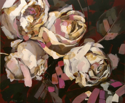 Daniela Friederike Lüers, Gently Fade the Roses, Acrylic on Canvas, 39.5  x 47.5 image