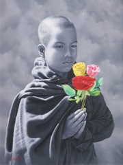 Aung Kyaw Htet, The Beauty of Prayer, Oil on Canvas, 60''x 46'' image
