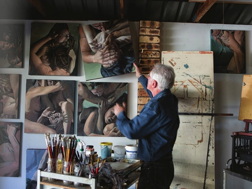 James Guppy in his studio, photograph by Natalie Grono. image