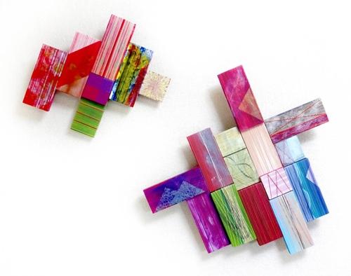 Yoshiko Kanai,Celebration,Acrylic _ Thread on Wood,20''x25'' image