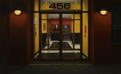 Lobby at 456 (Night Windows) image