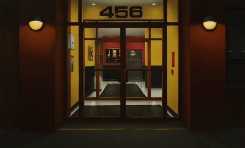Lobby at 456 (Night Windows) image