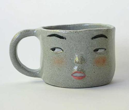 Dai Li, 'Face Mug', 2018, ceramics (stoneware), 7.5 x 14 x 10cm image