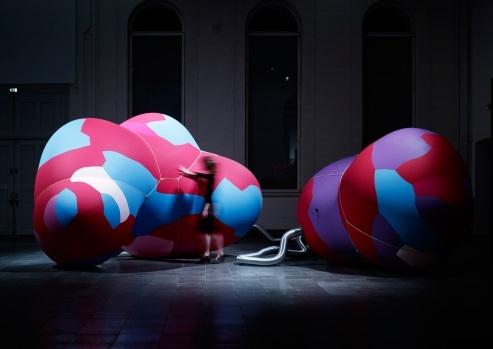 Phil Ayres, Petras Vestartas, Dancia Pistekova, Maria Teudt, Inflated Restraint, 2016. image
