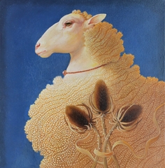 Portrait of a Yellow Sheep after Alesso Baldovinetti's Portrait of a Woman in Yellow image