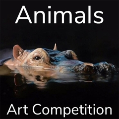 """Call for Art – 10th Annual """"Animals"""" Online Art Competition image"""