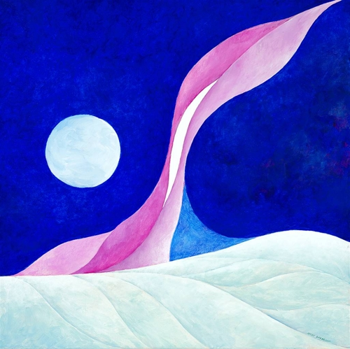 """Jerry Anderson, Artic Sky, 2021 Acrylic on Canvas 24"""" x 24"""" image"""