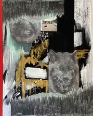 """William Atkinson, They Interest Me, 2021 Mixed Media on Canvas 60"""" x 48"""" image"""