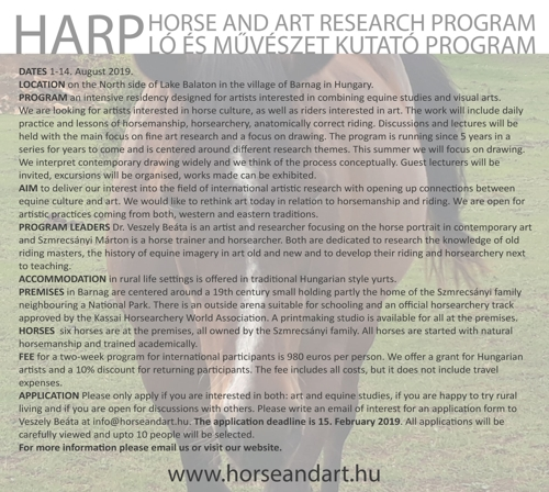 HARP Horse and Art Research Program photo