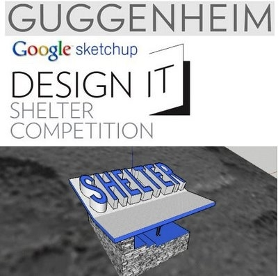 Guggenheim & Google sketchup Design It Shelter competition image