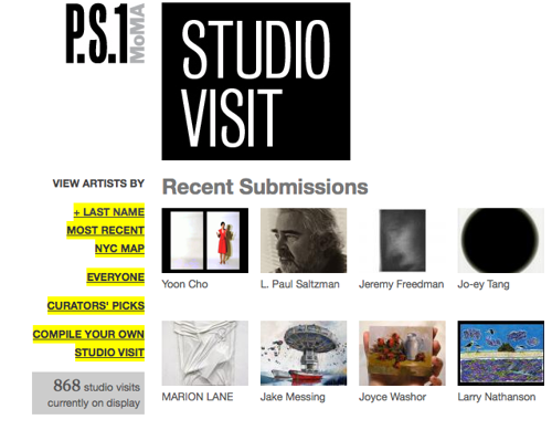 See New York Artist Studios online at P.S.1's 'Studio Visit' website image