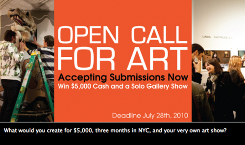 $5,000, your own studio & a solo show in New York sound good? image