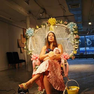 Performance artist to give birth in public image