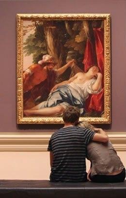 Jacques Blanchard Mars and the vestal virgin image