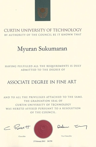 Myuran Sukumaran awarded Associated Degree in Fine Art before his execution by the Indonesian Government image